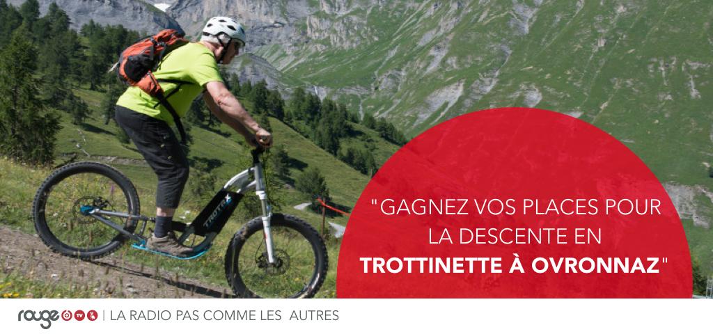Gagnez votre BON (1 montée en télésiége, 1 descente en trottinette) Validité : automne 2019