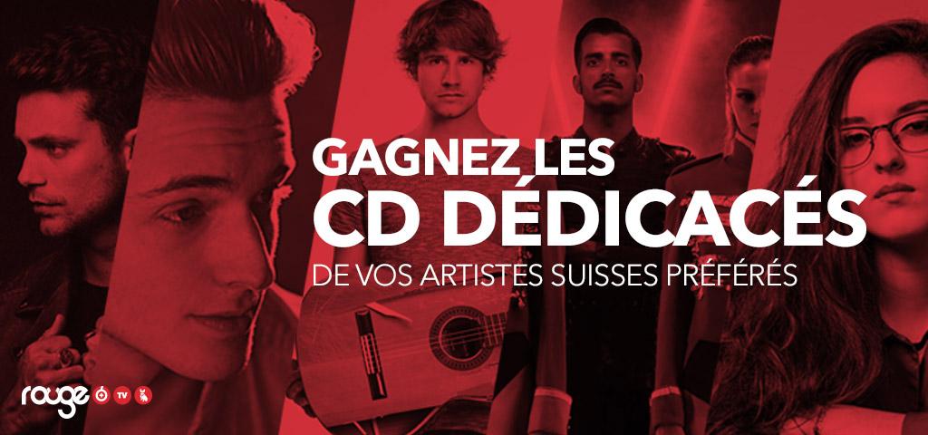 Gagnez les CD dédicacés de vos artistes Suisses préférés